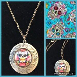 Jewelry - Sugar Skull Locket Necklace